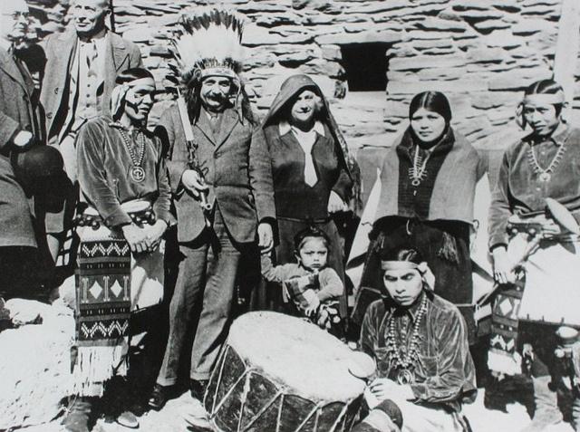 Albert Einstein with Hopi Indians