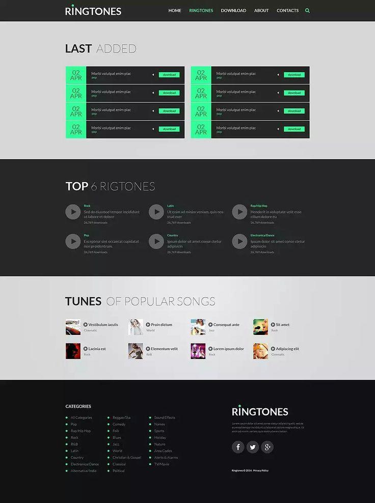 654 best Responsive Website Templates images on Pinterest - timeline website template