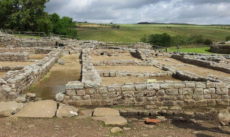 Vindolanda. Muro de Adriano. Hadrian's Wall. Restos del pueblo alrededor del fuerte.