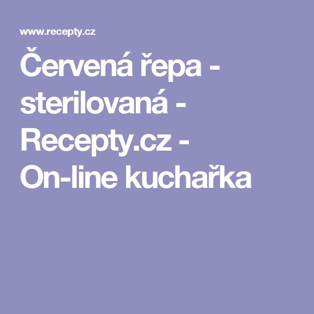 Červená řepa - sterilovaná  - Recepty.cz - On-line kuchařka