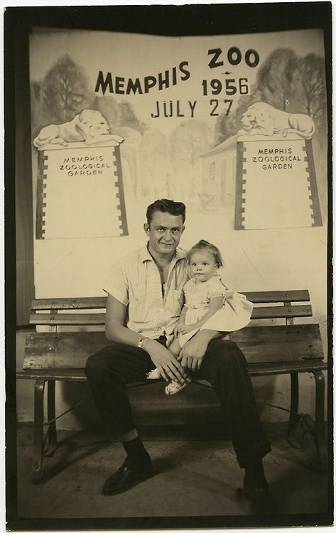 "Johnny and Rosanne Cash from ""A Long Way Home,"" by Rosanne Cash, in the Tennessee Music issue of the Oxford American ~ Have a picture of my Momma and Dad in this very spot, some years later..."