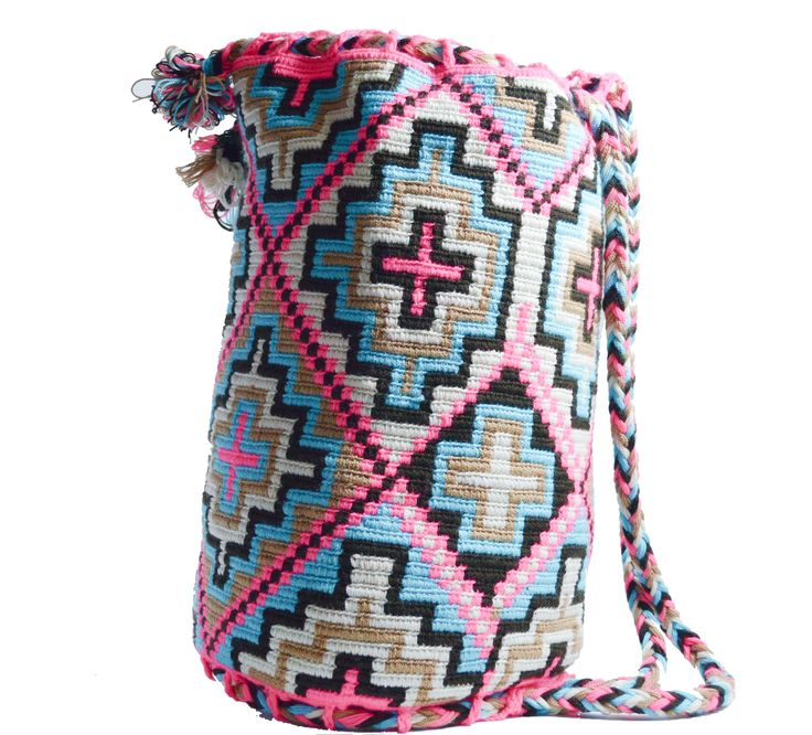 Wayuu Bag – Large Mochila – Drawstring – 432  Authentic WAYUU Large Mochila Bag 100_ Colombian Boho Hobo Finest Handmade 432-1  $80$  #wayuu #wayuumochila #wayuubag #wayuumochilabags #products #drawstringbag #drawstring #bohohobo #handmade  https://wayuu-mochila-bags.com/shop/popular-wayuu-bags/wayuu-drawstring-mochilas/neon-pink-drawstring/authentic-wayuu-large-mochila-drawstring-backpack-finest-colombian-handmade-432/