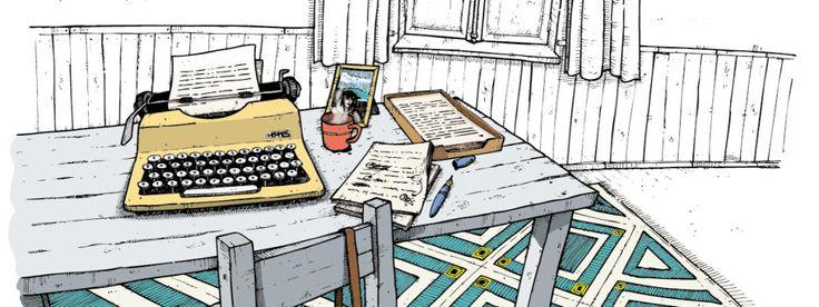 Ilustração My Own Portugal, roteiro Casas de Escritores