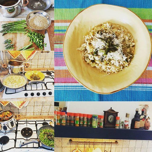 #Risotto #integrale con #asparagi e #parmigiano ... #primavera #labuonacucinadicasa ... #brown #rice with #asparagus and #parmesancheese #spring #thegoodhomecooking #food