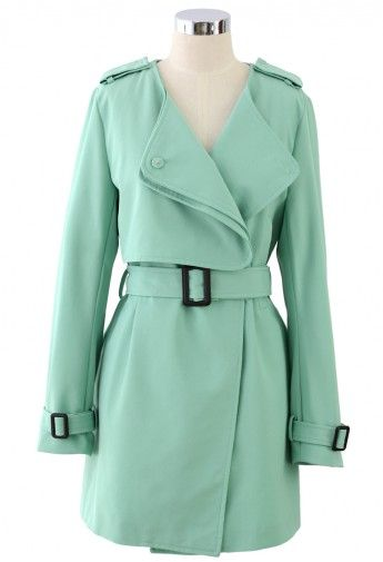 Mint Green Trench