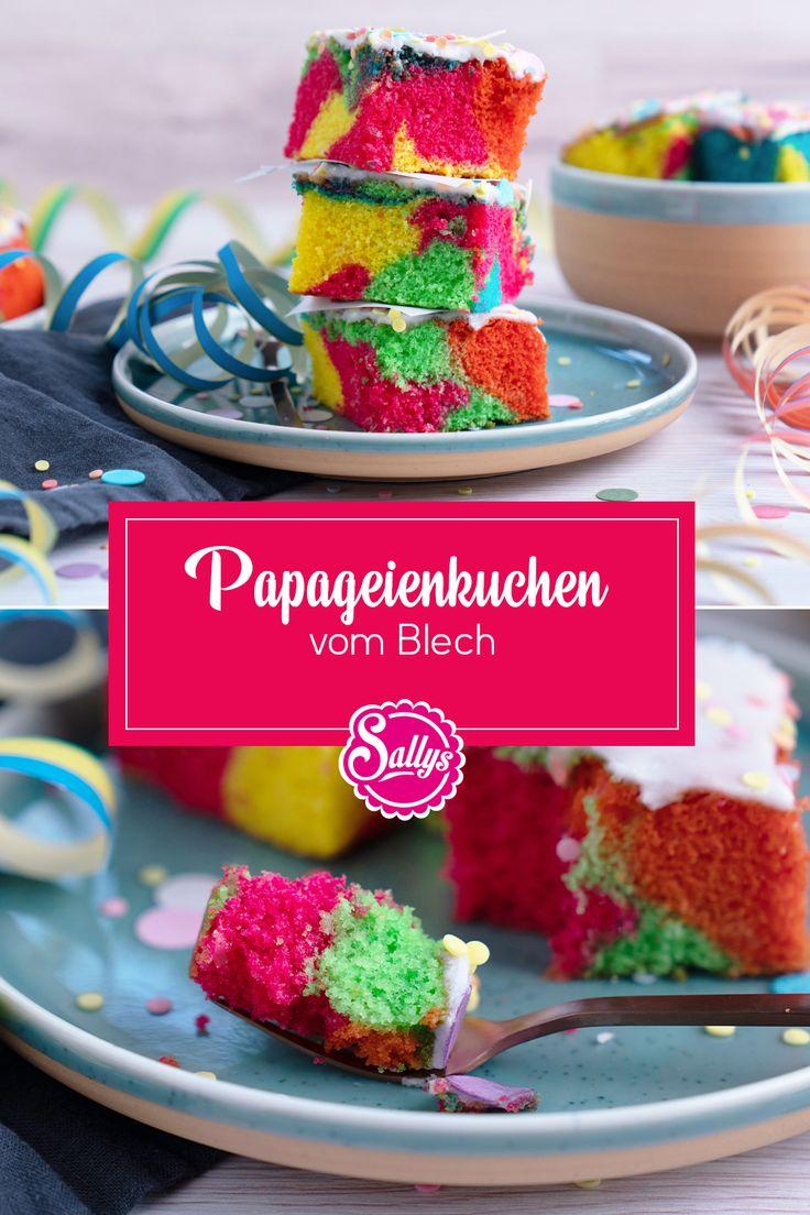 papageienkuchen vom blech in 2021 papagei kuchen kuchen