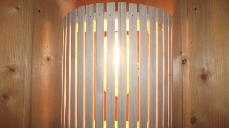 Lampenschirm Holzblendschirm Saunalampe Sauna Saunalicht Saunaleuchte