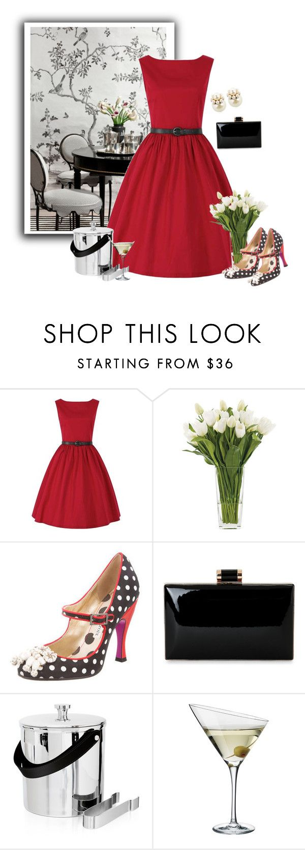 """""""Pre-owned Christian Lacroix Polka Dot Pumps"""" by kimzarad1 ❤ liked on Polyvore featuring Kemble Interiors, NDI, Christian Lacroix, Ralph Lauren, Eva Solo and Mawi"""