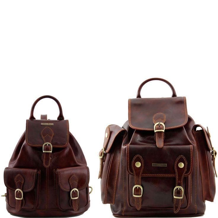 Trekker TL90173 Set zaini in pelle da viaggio - Travel set Leather backpacks - Tuscany Leather