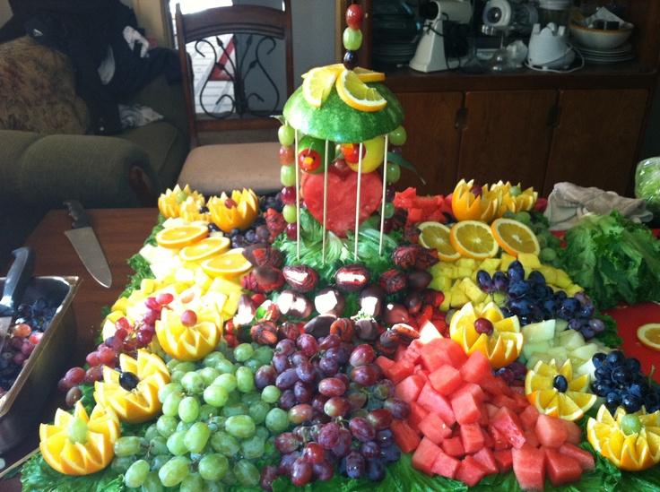 42 best wedding & party fruit trays etc. images on Pinterest ...