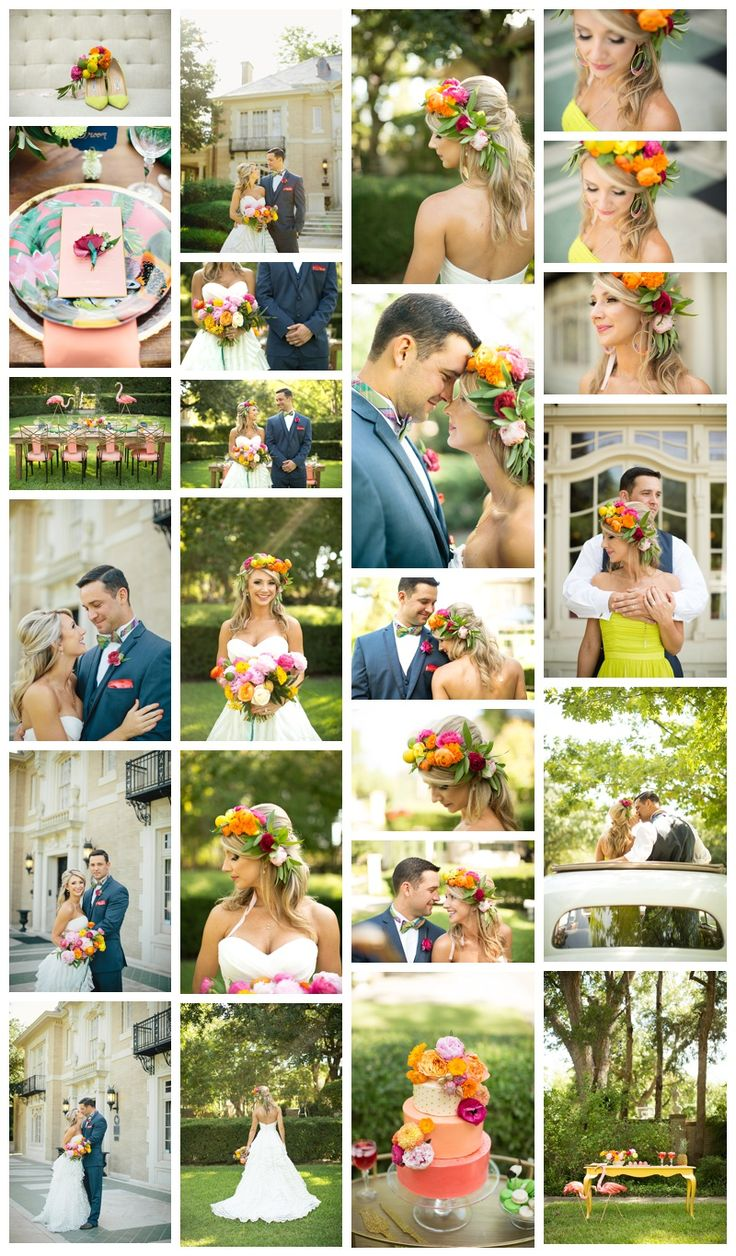 A Tropical Wedding in Dallas http://www.weddingchicks.com/2014/11/12/bold-bright-dallas-wedding/