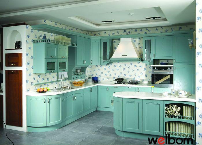 modern mavi mutfak dolapları