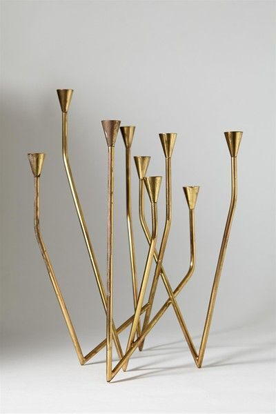 Anonymous; Brass Candle Holder, 1950s.