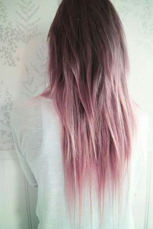 Try The Rainbow Hair Trend For Weekend Brown And Pink Hairpastel