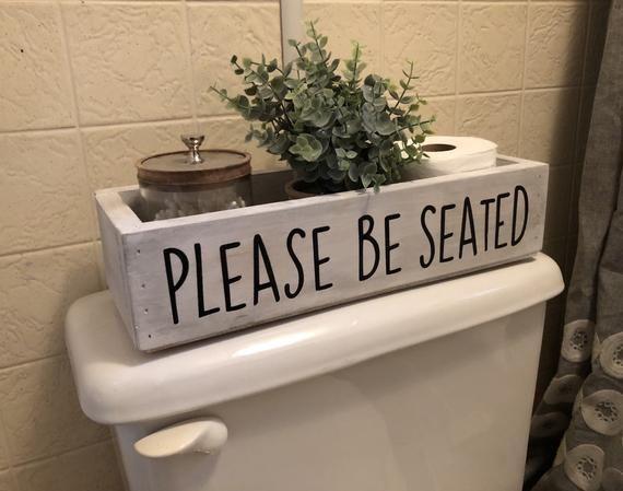 Please Be Seated Bathroom Decor Bathroom Catch All Toilet | Etsy