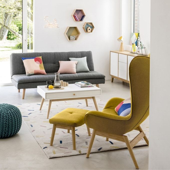 Table Basse 1 Tiroir 1 Niche Jimi Table Basse Amenagement Salon Decoration Maison