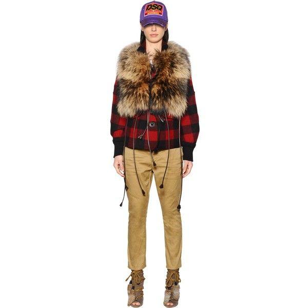 Dsquared2 Women Fur & Leather Vest (3,032 CAD) ❤ liked on Polyvore featuring outerwear, vests, brown, dsquared2, leather fur vest, leather vests, brown fur vest and fur vest