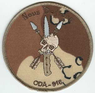 19th Special Forces Group Pocket Patches Operational Detachment A-916 A Company, 1st Battalion
