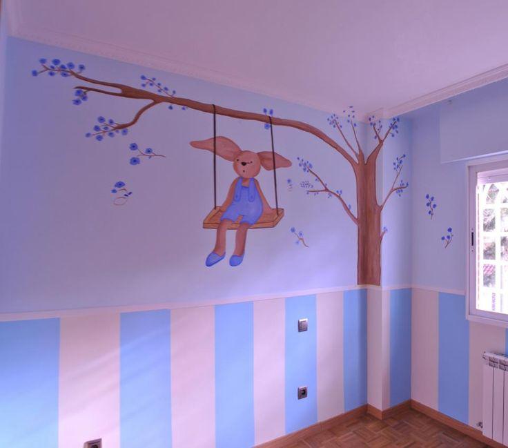 Mural infantil conejito