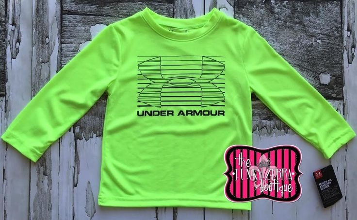 Under Armour Boys UA Fuel Green Top Size 2T-7