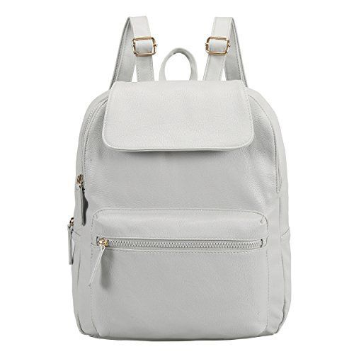 New Trending Backpacks: Z-joyee Womens Casual Fashion Bag Soft PU Leather Backpack Shoulder Bags Grey White (Upgrade). Z-joyee Women's Casual Fashion Bag Soft PU Leather Backpack Shoulder Bags Grey White (Upgrade)  Special Offer: $25.99  200 Reviews This PU leather backpack features flip-open cover design. Inside there is a zipped compartment, a document pocket and an cell phone pocket. 1...