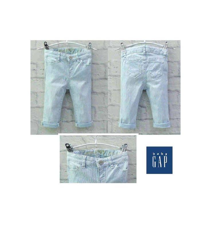 Baby GAP - Blue Stripes Skinny Denim - Celana Bayi dan Anak - Baju Bayi & Anak Branded Import.  Baby GAP - Blue Stripes Skinny Denim - Celana Bayi dan Anak. Tersedia dalam ukuran : 1 tahun, 2 tahun, 4 tahun, 5 tahun. SMALL Cutting.  Celana jeans panjang warna biru muda dengan motif garis-garis.