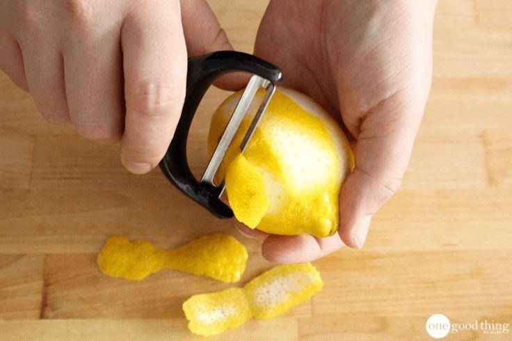 How To Make and Use Dried Lemon Peel - One Good Thing by JilleePinterestFacebookPinterestFacebookPrintFriendly