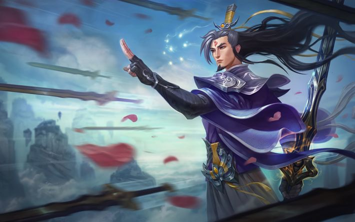 Download wallpapers Master Yi, characters, art, League Of Legends