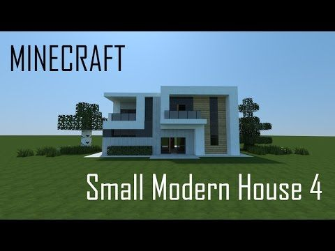 Minecraft Small Modern House 4 (full interior) + Download - YouTube