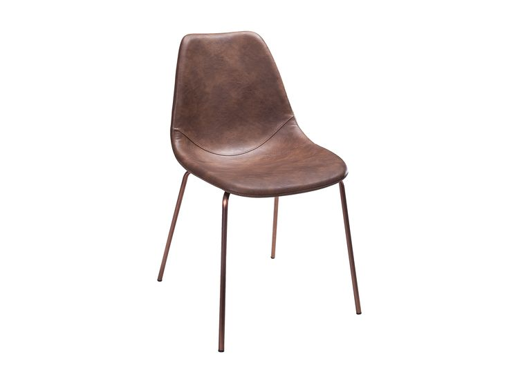 ARTEMIS Stol 1 Vintagebrun/Koppar -