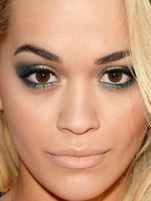 Found! The exact makeup Rita Ora was wearing at the 2014 BRIT Awards: http://beautyeditor.ca/2014/02/21/rita-ora-brit-awards-2014/