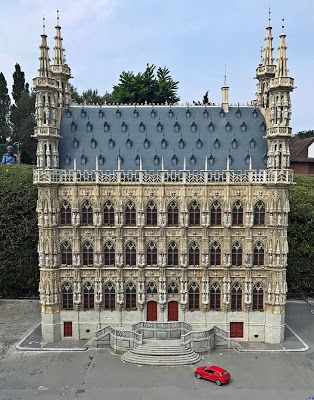 Leuven to the finest detail at a scale of 1:25 represented in Mini Europe from Brussels.
