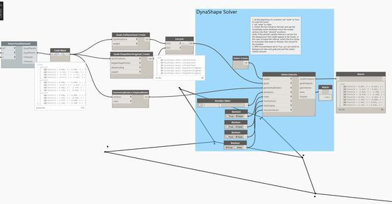 [image]    I am very happy to finally publish and open source DynaShape! 😃   DynaShape is a Dynamo package for constraint-based form finding,optimization and physics simulation.   If you are also from the Grasshopper community and familiar with Daniel Piker's Kangaroo, you will find many similar concepts and usages with DynaShape.   The package is currently under development and hence inevitably contains bugs/glitches. Feedbacks are highly appreciated!   Package Installer  https:&#x...