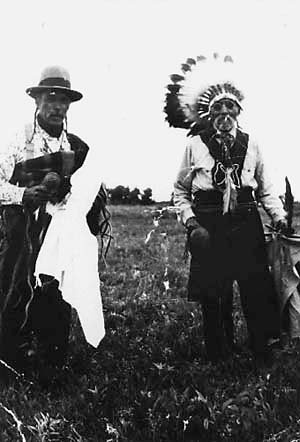 Ojibwa men from Swan Lake, Manitoba - circa 1925