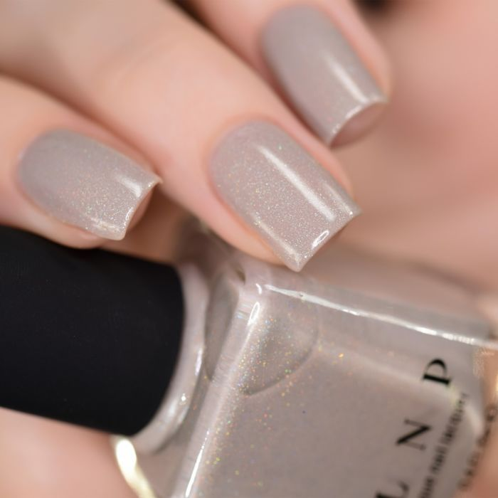 Set In Stone Creamy Greige Holographic Nail Polish By Ilnp With