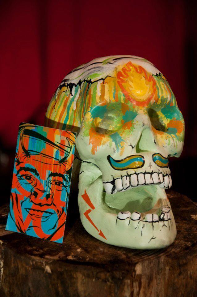 """Calavera Artista: Lesivo para la primera edición de """"Marcando Calavera año 2012"""" evento de la marca Angeles Magenta #skull #lesivo #art"""