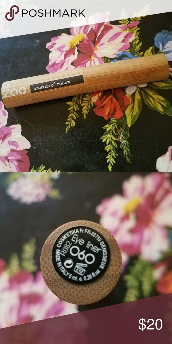Zao Liquid Eyeliner Black Zao Essence of Nature. 6ml, Color 060 Black. 100% Natural, 60% Organic. Cruelty Free, Gluten Free & Vegan. Zao Makeup Eyeliner
