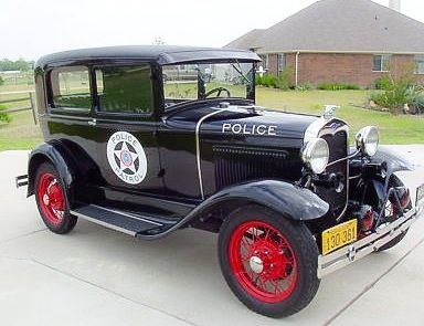 1930 FORD MODEL A Texas Police Car....