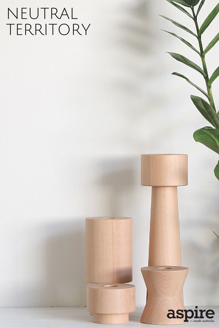 Candle holders in New Zealand beech from One Small Room http://www.onesmallroom.com.au/  #Neutral #CandleHolders #Shopping #Adelaide #SouthAustralia