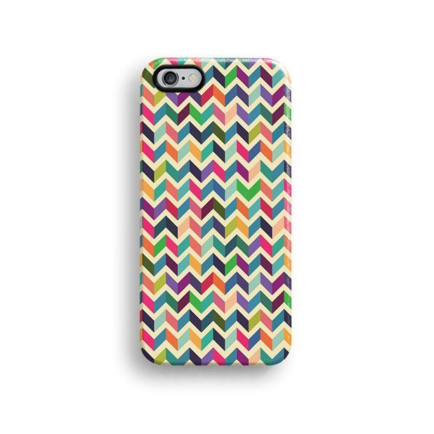 Colourful chevron iPhone 6 case, iPhone 6 plus case S672