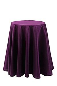 LARGE FAUX SILK TABLE OVERLAY
