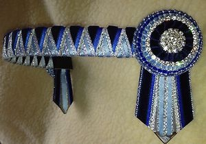 Navy, Baby Blue and Silver Browband
