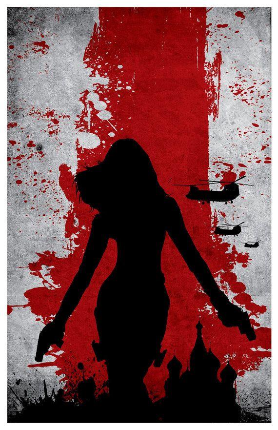 Vintage Avengers Movie Poster Set Black Widow by MINIMALISTPRINTS