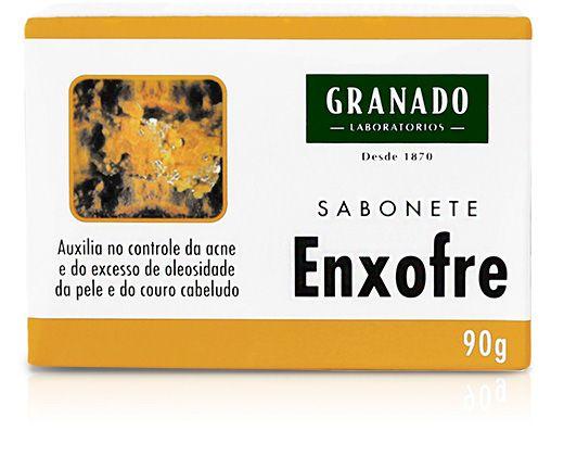 Sabonete de enxofre granado para tirar excesso de resíduos do cabelo