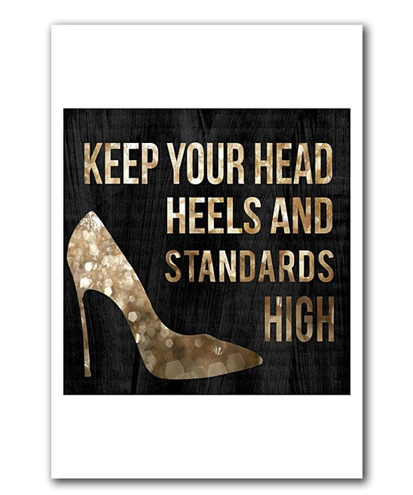 Look at this 'Head and Heels' Print on #zulily today!