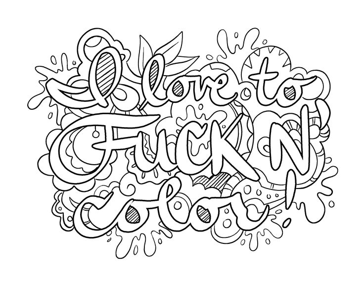 i love to fuck n color coloring page by colorful language 2015 - X Rated Coloring Books