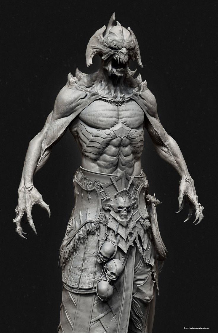 Demon_Lich, Bruno Melo on ArtStation at http://www.artstation.com/artwork/demon_lich