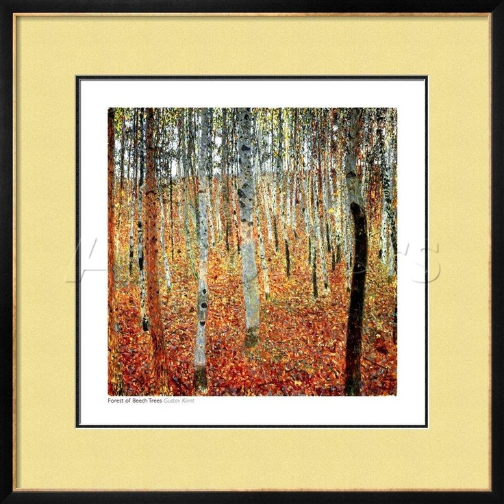 A lovely Gustav Klimt print with my choice of matting and frame.: Forests, Trees Art, Beech Trees, Art Prints, Art Poster, C1903, Gustav Klimt, Gustavklimt, Poster Prints