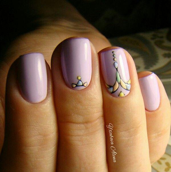 Натуральные ногти. Дизайн гель-лаками. Natural nails. Gel Nail polish design