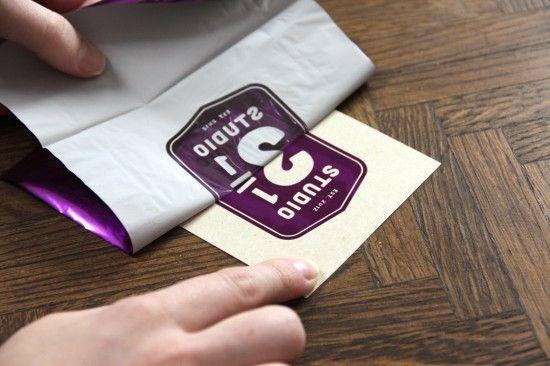 DIY Foil Stamping @designerscoop diy craft paper foil